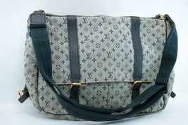 LOUIS VUITTON MonogramMini Sack Maman Shoulder Bag Navy M42350 Auth 7894 - $450.00