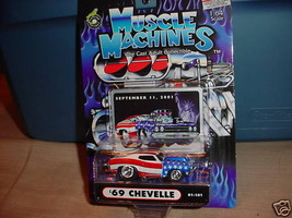 Muscle Machines 9-11-2001 Tribute '69 Chevelle 01-101 Free Usa Shipping - $11.29