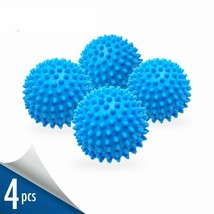 Dryer Balls 4 Pack Blue Reusable Dryer Balls Replace Laundry Drying Fabr... - $10.93