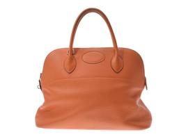Hermes Borido 37 orange SV G door Clemence leather handbag B Auth - $2,604.16