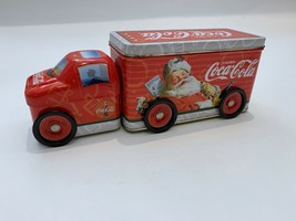 Toy Coca Cola Red Semi Truck Tin With Wheels Santa Christmas - $17.59
