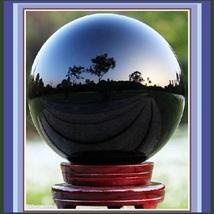 Natural Black Obsidian Quartz Crystal Ball Meditation Orb Sphere  - $49.95+