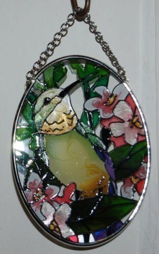 Joan Baker Designs SO189 Hummingbird Floral Suncatcher 4 Inches