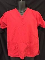 Dickies Unisex Scrubs Top Medical Nurse Uniform Top Red Size Small EUC - €7,63 EUR