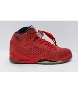Nike Air Jordan 5 Retro GS- Youth- Size 3.5Y- Red Suede- [440888-602]-Ba... - $37.40
