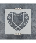 Geometric Heart Stencil - Reusable Stencils of Geometric Heart in Multip... - $5.99+
