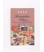1933 Remember When...A Nostalgic Look Back in Time - $7.00