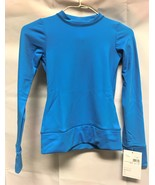 Mondor Model 4304 Girls Skating Long Sleeve Top E5 Azure Size Child 10.12 - $51.99