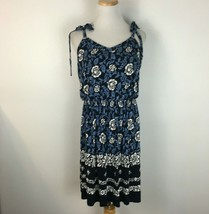 LOFT Ann Taylor Women's Navy Blue Spaghetti Strap Boho Dress Size Small - $17.81
