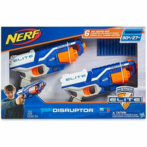 Primary image for Nerf N-Strike Elite Disruptor 6 Dart Rapid Fire Nerf Gun Blaster Shoots 90 ft