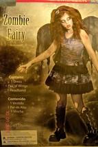 Girls Teen Juniors Zombie Fairy Gothic Halloween Costume Size Medium 9-1... - $17.93