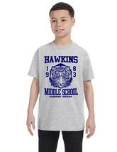 Kids Youth T Shirt Hawkins Middle School 1983 Trendy Tee Gift - $18.94