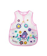 Baby Bib Soft Plastic PEVA Waterproof Bib Easy to Clean, Bird - $11.55