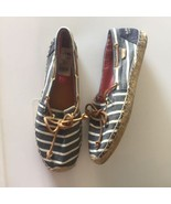 Womans Sperry Espadrilles Top Sider Katama Slip On Shoes Stripe Chambray... - $11.19