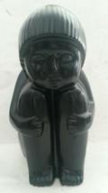 Harris Potteries Mid Century Modern Art Deco Revival Child Black Ceramic... - $86.11