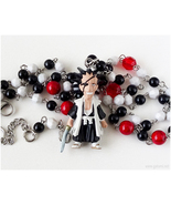Zaraki Kenpachi Anime Figure Necklace, Handmade Jewelry, Bleach, OOAK - $32.00
