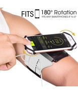 Cell Phone Armband for Workout Running Biking Adjustable Reflective Band... - $22.24