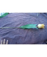 Gently Used Plastic and Cloth Tulip - GREAT FOR FALL CRAFTS - VGC - YELL... - $3.95