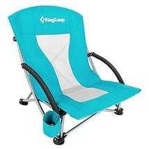 KingCamp Low Sling Beach Camping Folding Chair with Mesh Back Cyan - $42.37
