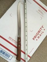 """Vtg Flint Stainless Arrowhead Vanadium USA Slicer Carver KNIFE 8"""" Serrat... - $9.70"""
