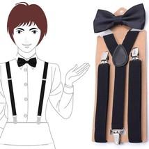 Suspensorio Adult Bow Tie Suspenders Men Women 3Clip Y-Back Bow Tie Brac... - $9.99