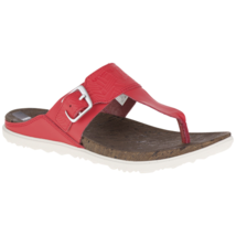 Merrell Womens Around Town T-Strap Sandal Red 6 #NLQUW-M637 - $49.99
