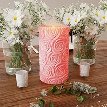 Lavish Home LED Candle with Remote Control-Rose Design Scented Wax Reali... - $20.08