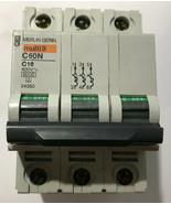 Schneider 3-Pole Multi-9 16 Amp Miniature Circuit Breaker, C60N-C16, 24350 - $54.09