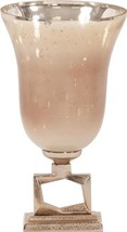 Footed Vase Howard Elliott Small Antiqued Apricot Champagne - $169.00