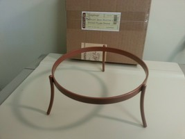 Longaberger Wrought Iron Pasta Bowl Flare Stand Plate Copper Color USA Made - $14.80