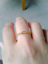 Gold Chain Stacking Ring Gold Chain Ring Chain Stacking Ring Minimalist ... - $16.00