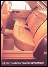 1984 Mercedes-Benz Upholstery Brochure Velour MB-Tex - $7.43