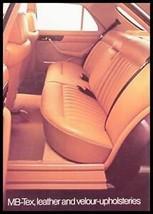 1984 Mercedes-Benz Upholstery Brochure Velour MB-Tex - $7.43