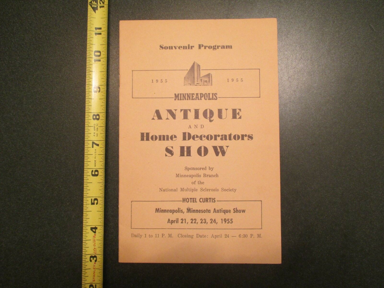 1955 Minneapolis Minnesota MN Antique Home Decorators Show Souvenir Program