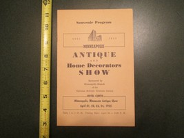 1955 Minneapolis Minnesota MN Antique Home Decorators Show Souvenir Program - $6.99