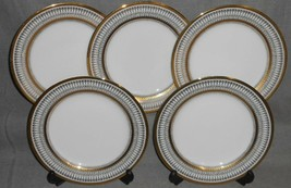 Set (5) Muirfield GOTHIC PATTERN Porcelain SALAD PLATES Made in New York - $79.19