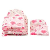 Set Of 10 Closet Storage Space Saver Bags,Vacuum Storage Bags, Pink Flowers
