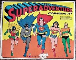 SUPERADVENTURE COLORFORMS SET Board Game 1974 - $99.95