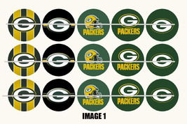 Printed Precut GREEN BAY PACKERS inspired 1 inch images for bottlecaps, ... - $2.00