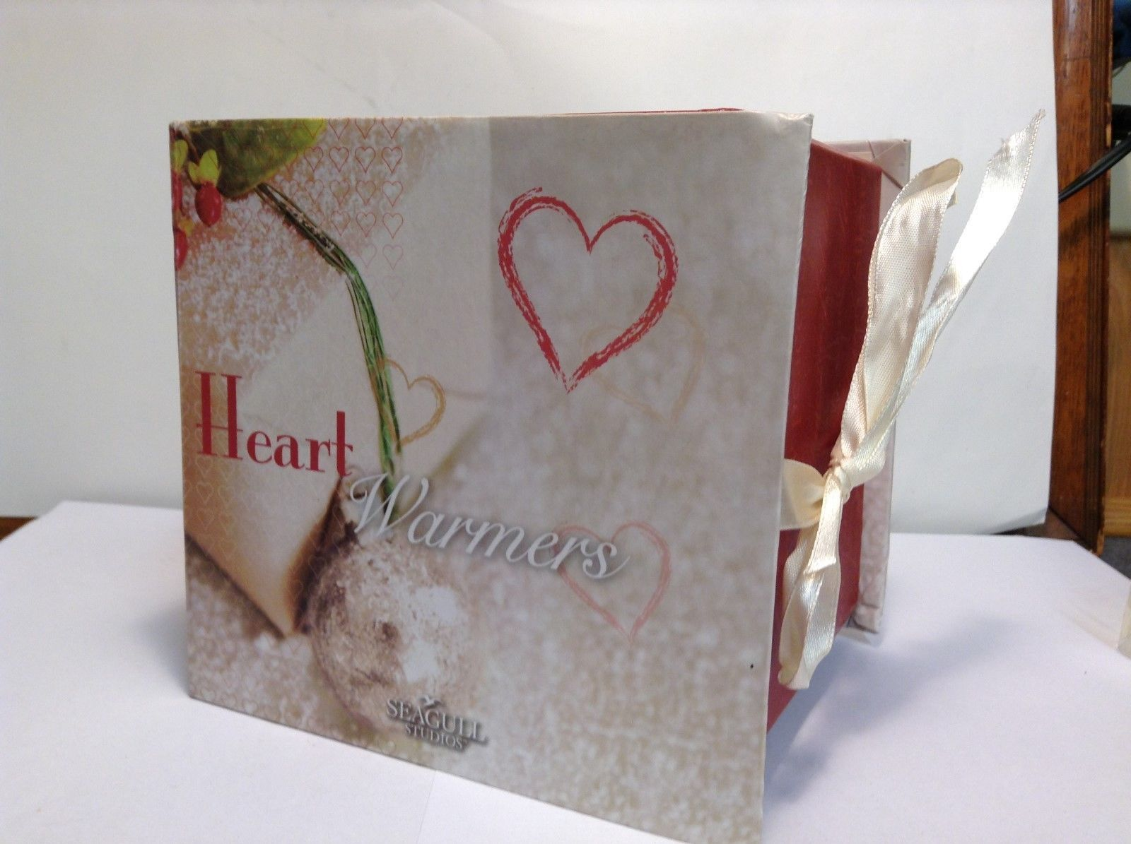 NEW Seagull Studios Heart Warmers Candle Holder w Tablet/Msg Tablet