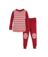 Burts Bees Baby 100% Organic Cotton Peppermint Block Stripe Pajama Set C... - $16.99