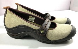 Merrell Mary Jane Shoes Womens Plaza Bandeau Size 9.5 Brown / Beige - $39.55