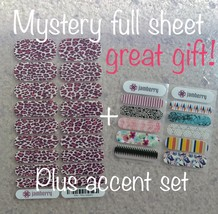 Jamberry Nails Mystery Full sheet with FREE shipping & Bonus Accents New! - $15.47