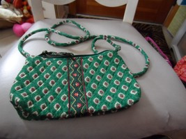 Vera Bradley small handbag with long handle in retired greenfield pattern - $15.50