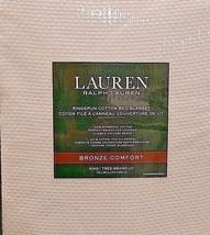 """RALPH LAUREN """"LUXURY RINGSPUN 100% COTTON"""" KING WAVE BLANKET BLUSH NIP $180 - $109.24"""