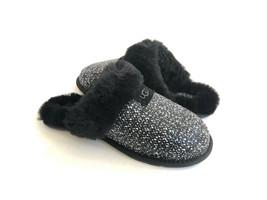 Ugg Scuffette Ii Frill Black Shearling Lined Slippers Us 8 / Eu 39 / Uk 6.5 - $83.22