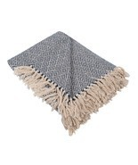 DII Rustic Farmhouse Cotton Diamond Blanket Throw with Fringe For Chair,... - £17.20 GBP
