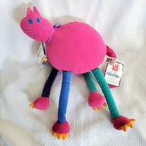 Manhattan Toy Deecha Creature Catie Cat Stuffed Plush Purple Blue 2000 NEW - $49.49