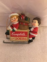 1996 Campbell's Soup Kids On Sled Christmas Ornament - $7.70