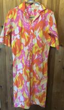 Vintage Lady Bayard Size 9/10 Shift Shirt Dress Groovy Psychedelic Neon ... - $21.04
